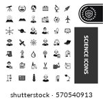 science icon set clean vector | Shutterstock .eps vector #570540913