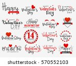 happy valentines day vintage... | Shutterstock .eps vector #570552103
