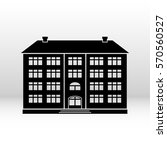 black icon building for your... | Shutterstock .eps vector #570560527