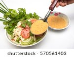 thai ancient salad and salad... | Shutterstock . vector #570561403