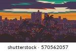 los angeles skyline | Shutterstock .eps vector #570562057