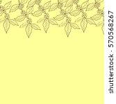 organic coffee leaf  bean... | Shutterstock .eps vector #570568267