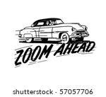 zoom ahead   in a two door... | Shutterstock .eps vector #57057706