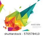vector of modern abstract... | Shutterstock .eps vector #570578413