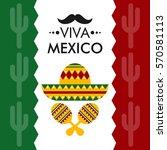 mexico theme poster...   Shutterstock .eps vector #570581113