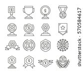 award and prize icons set line... | Shutterstock .eps vector #570584617