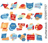set of sale discount labels ... | Shutterstock . vector #570597757