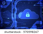 abstract security cloud... | Shutterstock .eps vector #570598267