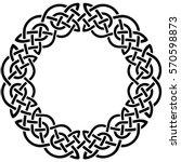 round celtic pattern. element... | Shutterstock .eps vector #570598873