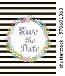 cute save the date card or... | Shutterstock .eps vector #570601363