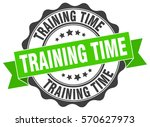 training time. stamp. sticker.... | Shutterstock .eps vector #570627973