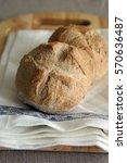 Small photo of White bread bun