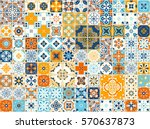 seamless pattern with with... | Shutterstock .eps vector #570637873