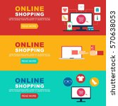 online shopping illustration  | Shutterstock .eps vector #570638053