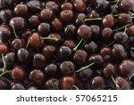 red cherries background | Shutterstock . vector #57065215