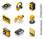 set of isometric multimedia... | Shutterstock .eps vector #570652657