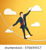concept of businessman or man... | Shutterstock .eps vector #570654517