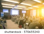 people sitting in conference... | Shutterstock . vector #570655243