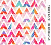 Stock vector abstract triangle background with summer exotic tropical palm leaves vector abstract seamless 570655567