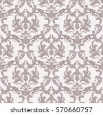 vintage baroque damask floral... | Shutterstock .eps vector #570660757