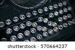keys of old typewriter | Shutterstock . vector #570664237