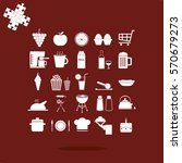 food and drink icons set | Shutterstock .eps vector #570679273
