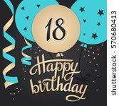 happy birthday card template... | Shutterstock .eps vector #570680413