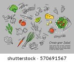 hand drawn vector illustration... | Shutterstock .eps vector #570691567