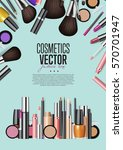 cosmetics products  fashion... | Shutterstock .eps vector #570701947