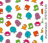 seamless vector pattern with... | Shutterstock .eps vector #570707143