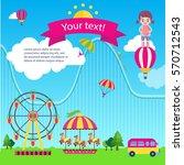 illustration of various objects ... | Shutterstock .eps vector #570712543