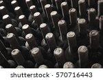 stacked up wine bottlesstacked... | Shutterstock . vector #570716443