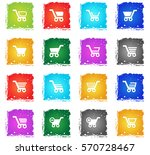 basket web icons in grunge... | Shutterstock .eps vector #570728467