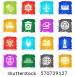 bio fuel web icons in grunge... | Shutterstock .eps vector #570729127
