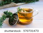 close up of glass of rosemary... | Shutterstock . vector #570731473