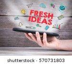 fresh ideas. tablet computer in ... | Shutterstock . vector #570731803