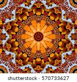 seamless vector pattern with... | Shutterstock .eps vector #570733627