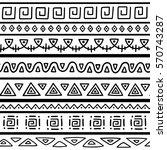 seamless pattern in ethnic... | Shutterstock .eps vector #570743287