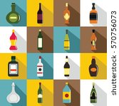bottle forms icons set. flat... | Shutterstock .eps vector #570756073