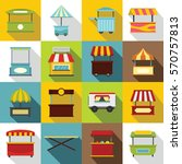 street food truck icons set.... | Shutterstock .eps vector #570757813