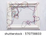 a beaded necklace from colorful ... | Shutterstock . vector #570758833