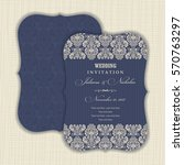 wedding invitation with baroque ... | Shutterstock .eps vector #570763297