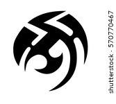 tribal tattoos design element....   Shutterstock .eps vector #570770467