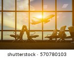 passenger seat in departure... | Shutterstock . vector #570780103