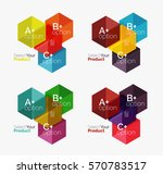 set of abstract geometric... | Shutterstock .eps vector #570783517