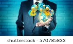 unrecognizable business manager ... | Shutterstock . vector #570785833