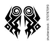 tribal tattoos design element.... | Shutterstock .eps vector #570787093