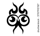 tribal tattoos design element.... | Shutterstock .eps vector #570795787