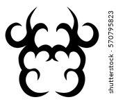 tribal tattoos design element.... | Shutterstock .eps vector #570795823