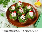 Funny Chickens From Eggs On Th...